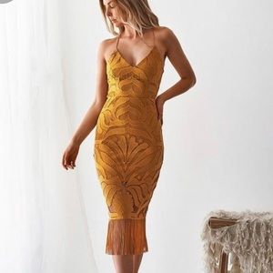 Mustard Yellow Midi Dress